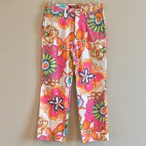 NWT MAX MARA Floral Ankle Pants Size 4